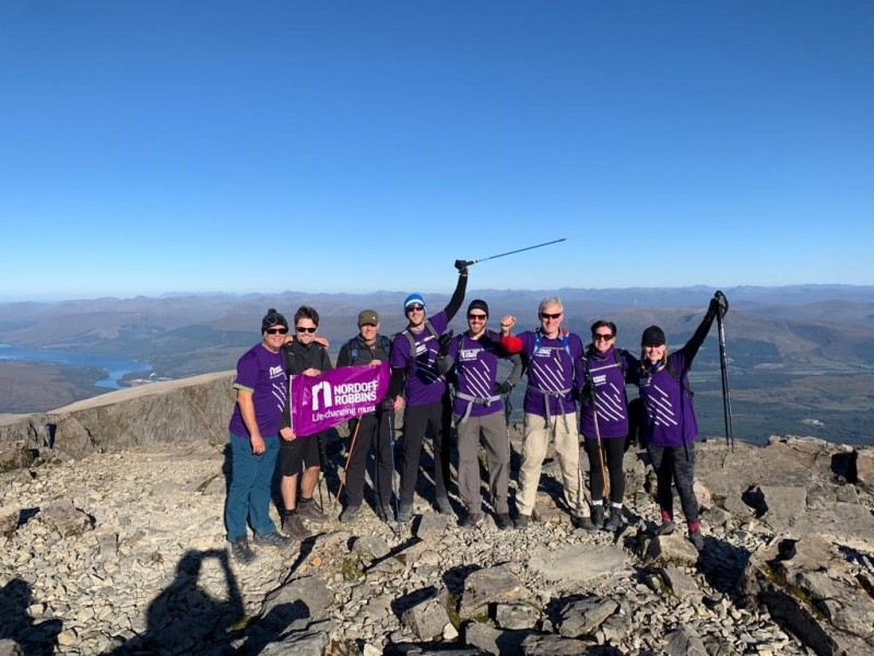 Team photo at the top of Ben Nevis