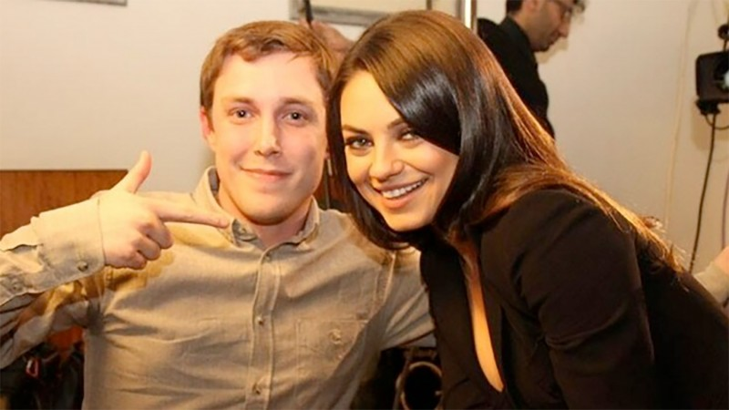 Chris Stark with Mila Kunis