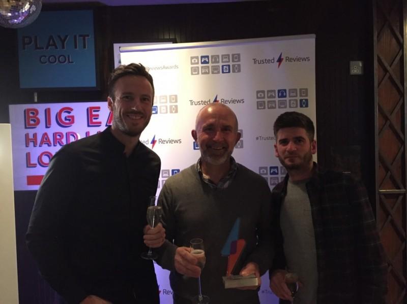 richard, alan and dave at the trusted reviews award