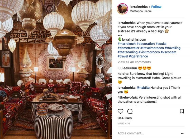 Interior design trends - authentic travel