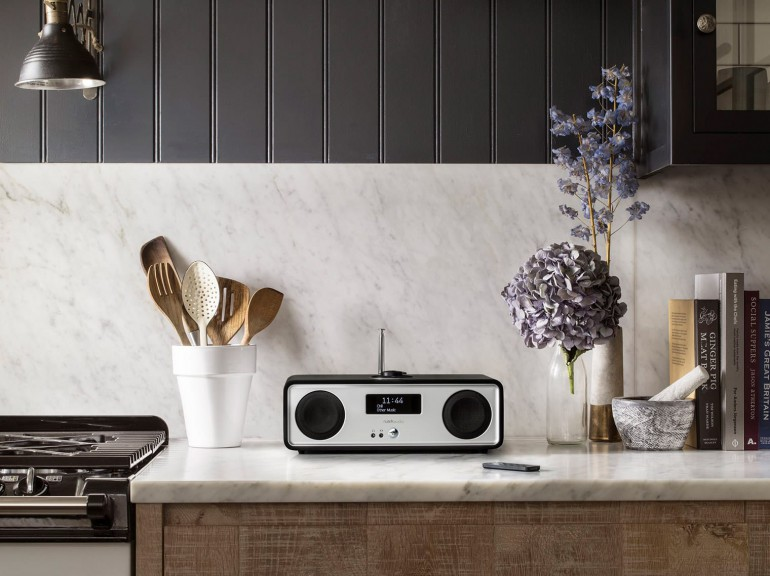 Ruark Audio R2 on marble kitchen counter