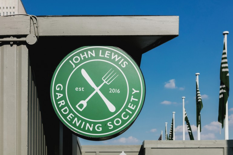 John Lewis Gardening Society sign