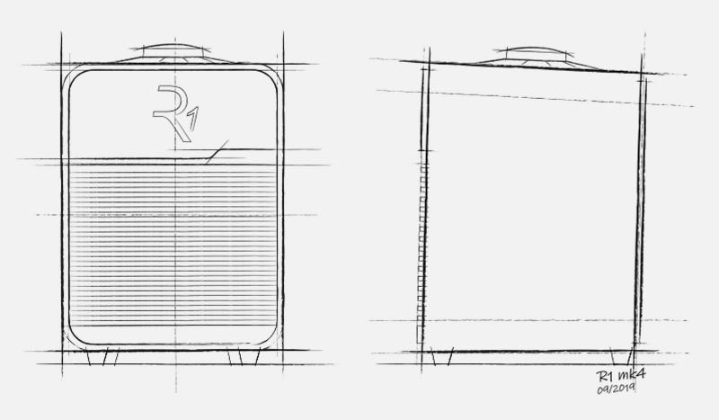 Concept sketch of Ruark Audio R1 Mk4