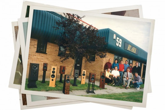 Ruark staff outside their new factory in 1996