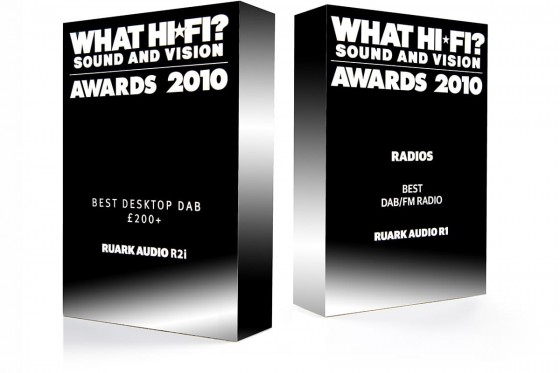 What Hi-Fi Awards for Ruark Audio R1 and R2i, 2010