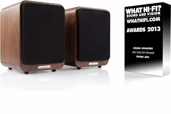 Ruark Audio MR1 with 2013 What Hi-Fi award for best desktop loudspeaker